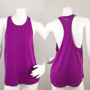 Express Tops - Express Exp Core Racerback Tank Purple Solid Small